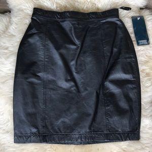 VTG Leather Mini Skirt NWT Byrnes & Baker